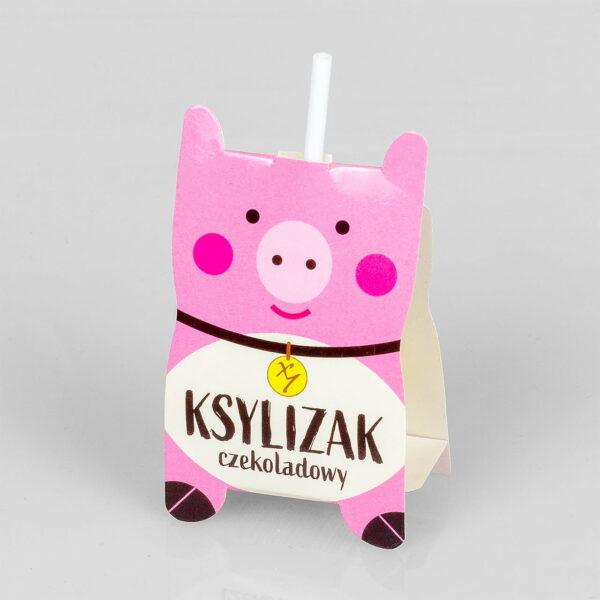 Ksy - Lizak czekoladowy ŚWINKA bez dodatku cukru, bez laktozy 12g.
